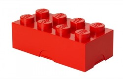 Lego  kinderservies Lunchbox brick 8: rood
