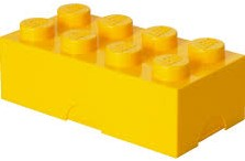 Lego  kinderservies Lunchbox Brick 8: geel