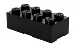 Lego  kinderservies Lunchbox brick 8: zwart