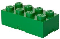 Lego  kinderservies Lunchbox: Brick 8 Groen