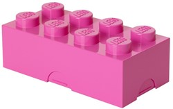 Lego  kinderservies Lunchbox: Brick 8 Roze