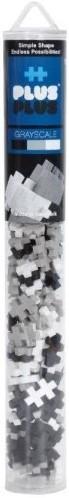 Plus-Plus Mini - Koker Grijsschaal mix - 100 stuks
