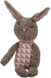Bloomingville knuffel,Plush Bunny, Brown w/Rose & Off White