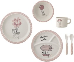 Bloomingville servies, Amelia Serving Set, Rose, Bamboo