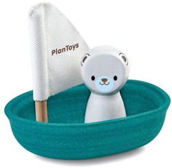 Plan Toys  houten badspeelgoed Sailing Boat Polar Bear