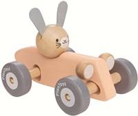 Plan Toys houten pastel raceauto Konijn