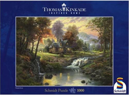 Schmidt legpuzzel Mountain Retreat, 1000 stukjes