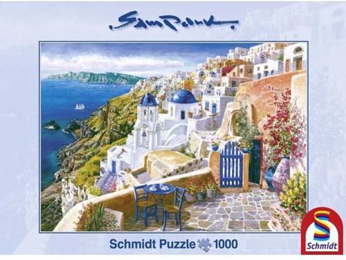 Schmidt legpuzzel Blik op Santorini, 1000 stukjes