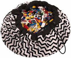 Play&Go  speelgoed opbergzak Zigzag zwart