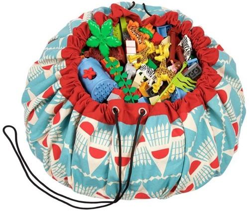 Play&Go  speelgoed opbergzak Badminton design