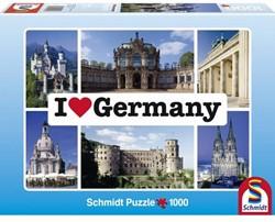 Schmidt  legpuzzel I love Germany - 1000 stukjes