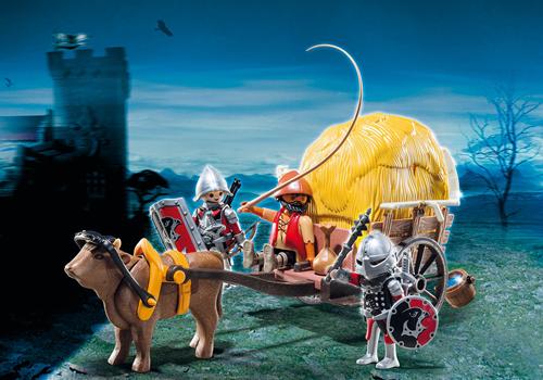 Playmobil Knights  - Camouflage hooiwagen van de Valkenridders  6005-3