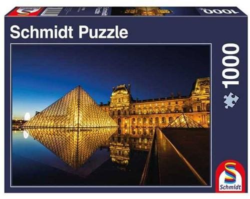 Schmidt  legpuzzel The Louvre by Night,  - 1000 stukjes
