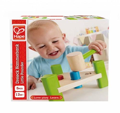 Hape houten leerspel Hamer bankje-2