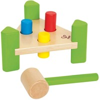 Hape houten leerspel Hamer bankje-1
