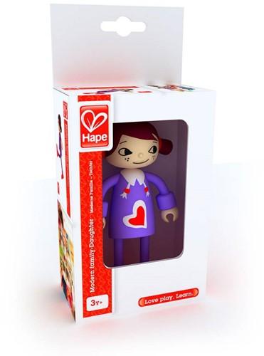 Hape poppenhuis poppen Modern Family Dochter-1