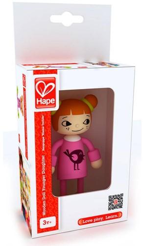 Hape poppenhuis poppen Modern Family Jongste Dochter-1