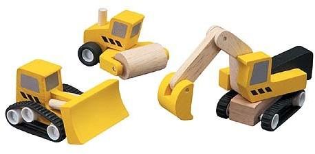 Plan Toys  Plan City houten speelstad voertuig 6014 Wegenbouw set