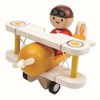 Plan Toys  houten speelvoertuig Klassiek vliegtuig