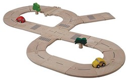 Plan Toys  Plan City houten speelstad weg 6077 Wegenset standaard