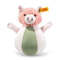 Steiff babyspeelgoed Happy Farm Piggilee pig musical toy, pink/green 19 cm