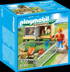 Playmobil Country  - Konijnenhok met buitenren  6140