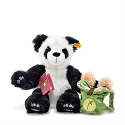 Steiff Around the world bears Lin, the globetrotting panda, white/black