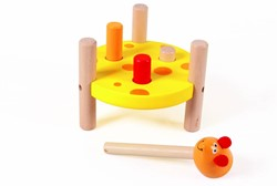 Scratch  houten leerspel Tap tap muis