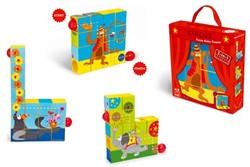Scratch  houten blokpuzzel Circus puzzel roller coaster