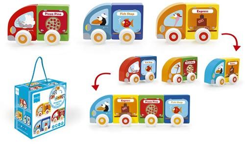 Scratch Preschool: Kleine Magnetische Auto'S (Pizza Pino/Fish Shop/Express)