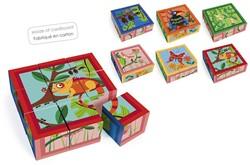 Scratch Puzzel: Blokkenpuzzel Jungle Met 9 Blokken