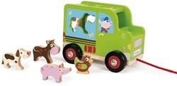 Scratch Preschool: Sorteerwagen/Boerderij, Met Laadklep En Accessoires