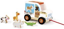 Scratch Preschool: Sorteerwagen/Safari, Met Laadklep En Accessoires
