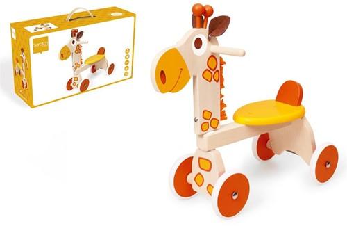 Scratch houten loopfiets Giraf Jules