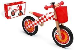 Scratch  houten loopfiets rood 3 -40 cm