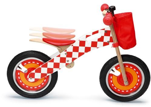 Scratch houten loopfiets Formule 1-3