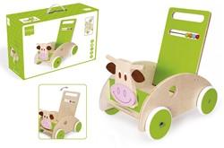 Scratch houten loopwagen KoeMarie