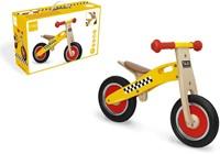 Scratch houten loopfiets Taxi