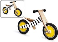 Scratch houten loopfiets Zebra Basil