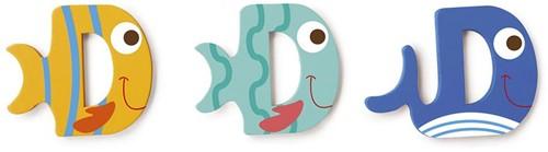 Scratch Deco: Houten Letter 'D'
