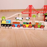 BigJigs Fruit and Veg Train-3