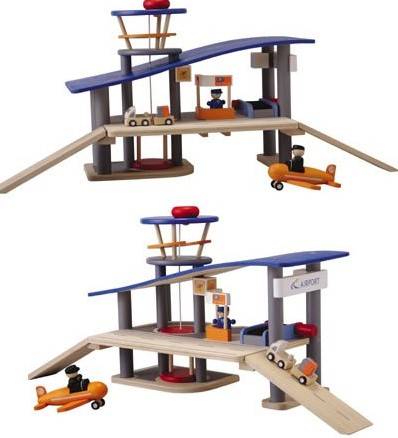 Plan Toys  Plan City houten speelstad gebouw Vliegveld-2