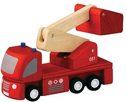 Plan Toys  Plan City houten speelstad sets Brandweerauto