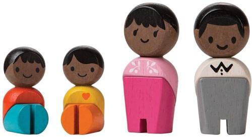Plan Toys Plan City houten poppetjes Afrikaanse familie