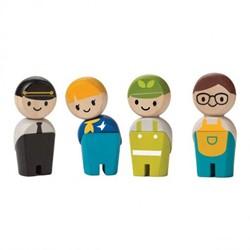 Plan Toys  Plan City houten speelstad poppentjes Service crew
