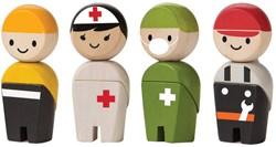 Plan Toys  Plan City houten speelstad poppentjes Rescue crew