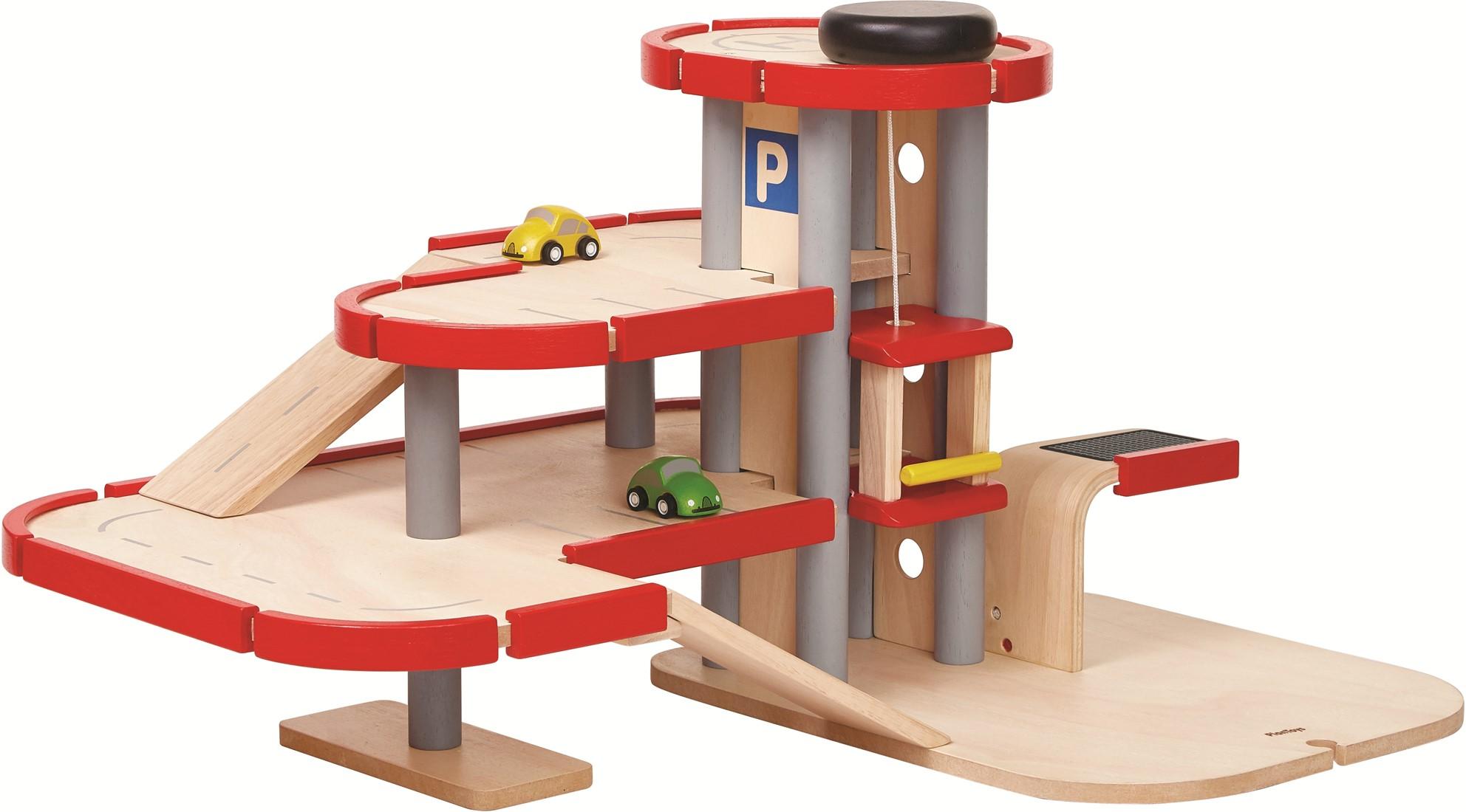 Speelgoed Garage Hout : Plan toys houten speelgoed garage