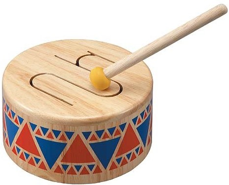 Plan Toys  houten muziekinstrument Solid drum