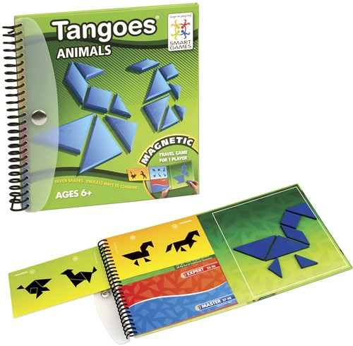 Smart Games spel Magnetic Travel SmartGames, Tangoes Animals-3