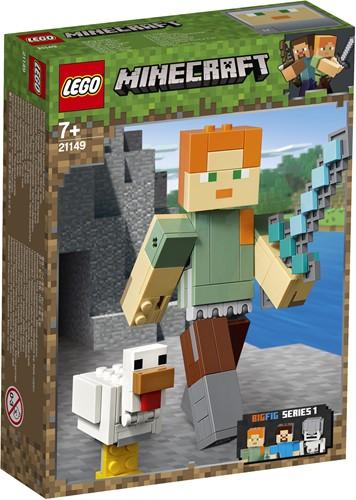 LEGO Minecraft Minecraft BigFig Alex met kip 21149
